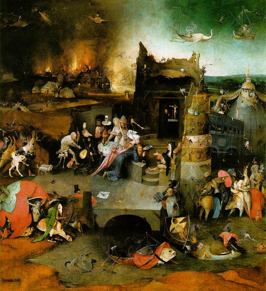 Bosch, Panneau central la Tentation de St Antoine
